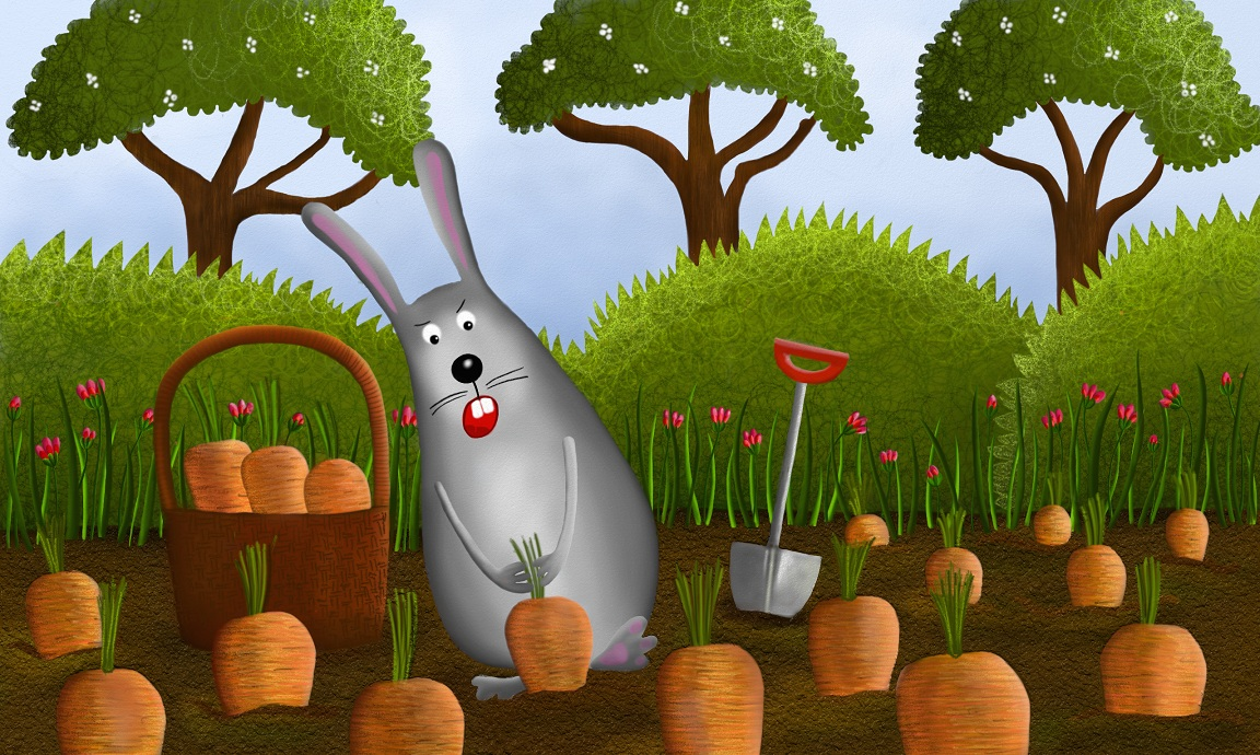 The deer suggested the hedgehog should visit the rabbit at the carrot field, and ask him to put the blackberries on his spikes.